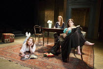 THREE SISTERS   by Chekhov   in a new version by Anya Reiss   design: Anthony Lamble   lighting: Howard Hudson   director: Russell Bolam ~l-r: Holliday Grainger (Irina), Olivia Hallinan (Olga), Emily...