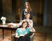 THREE SISTERS   by Chekhov   in a new version by Anya Reiss   design: Anthony Lamble   lighting: Howard Hudson   director: Russell Bolam ~from front: Emily Taaffe (Masha), Holliday Grainger (Irina), O...