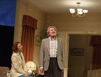 A SMALL FAMILY BUSINESS   by  Alan Ayckbourn   design: Tim Hatley   lighting: Paul Anderson   director: Adam Penford ~Amanda Hadingue (Yvonne Doggett), Gawn Grainger (Ken Ayres)~Olivier Theatre / Nati...