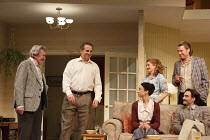 A SMALL FAMILY BUSINESS   by  Alan Ayckbourn   design: Tim Hatley   lighting: Paul Anderson   director: Adam Penford ~l-r: Gawn Grainger (Ken Ayres), Nigel Lindsay (Jack McCracken), (rear) Debra Gille...