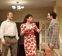A SMALL FAMILY BUSINESS   by  Alan Ayckbourn   design: Tim Hatley   lighting: Paul Anderson   director: Adam Penford ~l-r: Nigel Lindsay (Jack McCracken), Nicky Wardley (Anita McCracken), Gerard Monac...