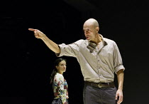 A VIEW FROM THE BRIDGE   by Arthur Miller   set & lighting design: Jan Versweyveld   costumes: An D'Huys   director: Ivo Van Hove ~Phoebe Fox (Catherine), Mark Strong (Eddie Carbone)~The Young Vic (YV...