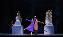 THE WINTER'S TALE   after Shakespeare   choreography: Christopher Wheeldon   music: Joby Talbot   design: Bob Crowley   lighting: Natasha Katz   conductor: David Briskin ~Leontes (left) watches his wi...