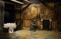 THE NOTORIOUS MRS EBBSMITH   by Arthur Wing Pinero   set design: Cherry Truluck   costumes (Victoria Johnstone   lighting: Tim Mascall   director: Abbey Wright   stage,set,empty,fireplace,mantlepiece...