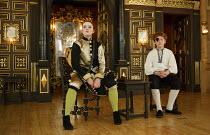 THE MALCONTENT   by John Marston   director: Caitlin McLeod  ~Freya Parks (Passarello), Joseph Marshall (Malevole)~The Globe Young Players / Sam Wanamaker Playhouse / Shakespeare's Globe (SG), London...