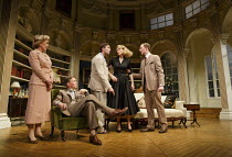 RELATIVE VALUES   by Noel Coward   design: Stephen Brimson Lewis   lighting: Tim Mitchell   director: Trevor Nunn   l-r: Patricia Hodge (Felicity, Countess of Marshwood), Steven Pacey (The Honourable...