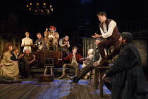 HENRY IV part i   by Shakespeare   design: Stephen Brimson Lewis   lighting: Tim Mitchell   director: Gregory Doran ~Tavern scene - rear centre, on chair: : Antony Sher (Sir John Falstaff)   right:Ale...