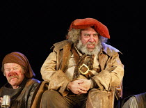 HENRY IV part i   by Shakespeare   design: Stephen Brimson Lewis   lighting: Tim Mitchell   director: Gregory Doran ~Tavern scene - l-r: Joshua Richards (Bardolph), Antony Sher (Sir John Falstaff)~Roy...