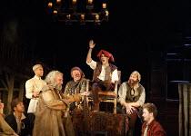 HENRY IV part i   by Shakespeare   design: Stephen Brimson Lewis   lighting: Tim Mitchell   director: Gregory Doran ~Tavern scene - front left: Antony Sher (Sir John Falstaff)   centre, l-r: Joshua Ri...