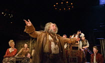HENRY IV part i   by Shakespeare   design: Stephen Brimson Lewis   lighting: Tim Mitchell   director: Gregory Doran ~Tavern scene - centre : Antony Sher (Sir John Falstaff)   rear right: Alex Hassell...