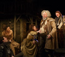HENRY IV part i   by Shakespeare   design: Stephen Brimson Lewis   lighting: Tim Mitchell   director: Gregory Doran ~Tavern scene - front centre: Antony Sher (Sir John Falstaff)   rear right: Joshua R...