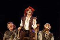 HENRY IV part i   by Shakespeare   design: Stephen Brimson Lewis   lighting: Tim Mitchell   director: Gregory Doran   Tavern scene - l-r: Joshua Richards (Bardolph), Alex Hassell (Henry, Prince of Wa...