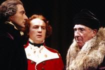 THE MADNESS OF GEORGE III   by Alan Bennett   design: Mark Thompson   lighting: Paul Pyant   director: Nicholas Hytner   left: Julian Wadham (William Pitt)   right: Nigel Hawthorne (King George III)...