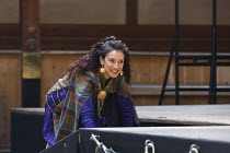 TITUS ANDRONICUS   by Shakespeare   design: William Dudley   director / Master of Play': Lucy Bailey ~Indira Varma (Tamora) ~Shakespeare's Globe, London SE1   01/05/2014