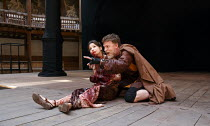 TITUS ANDRONICUS   by Shakespeare   design: William Dudley   director / Master of Play': Lucy Bailey   Flora Spencer-Longhurst (Lavinia), William Houston (Titus Andronicus) Shakespeare's Globe, Lond...