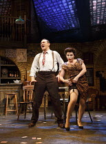 FINGS AIN'T WOT THEY USED T'BE   music & lyrics: Lionel Bart   book: Frank Norman   design: William Dudley   lighting: Ben Ormerod   director: Terry Johnson   Mark Arden (Fred), Jessie Wallace (Lil)...