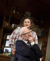 BAKERSFIELD MIST   by Stephen Sachs   design: Tom Piper   lighting: Oliver Fenwick   director: Polly Teale   Ian McDiarmid (Lionel Percy), Kathleen Turner (Maude Gutman)  Duchess Theatre, London WC2...