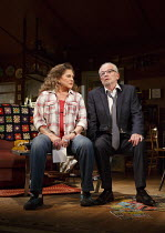 BAKERSFIELD MIST   by Stephen Sachs   design: Tom Piper   lighting: Oliver Fenwick   director: Polly Teale   Kathleen Turner (Maude Gutman), Ian McDiarmid (Lionel Percy) Duchess Theatre, London WC2...