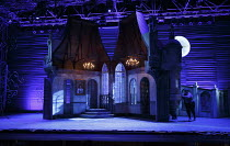 VERT-VERT   by Offenbach   conductor: David Parry   designer: Francis O'Connor   lighting: Howard Hudson   director: Martin Duncan   stage,set,empty,chateau,convent,French,France,interior,exterior,mo...