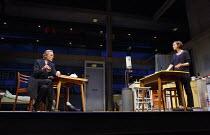 SKYLIGHT   by David Hare   design: Bob Crowley   lighting: Natasha Katz   director: Stephen Daldry ~Bill Nighy (Tom Sergeant), Carey Mulligan (Kyra Hollis) Wyndham's Theatre, London WC2   18/06/2014