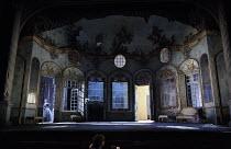 LA FINTA GIARDINIERA   by Mozart   after Goldoni   conductor: Robin Ticciati   design: Antony McDonald   lighting: Lucy Carter   director: Frederic Wake-Walker  front,  stage,set,full,inrerior,ornate...