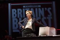 GREAT BRITAIN   by Richard Bean   design: Tim Hatley   lighting: Neil Austin   director: Nicholas Hytner ~Billie Piper (Paige Britain) ~Lyttelton Theatre / National Theatre (NT), London SE1   30/06/20...