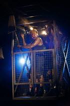 WONDERLAND   by Beth Steel   design: Ashley Martin Davis   lighting: Peter Mumford   director: Edward Hall   Paul Brennen (Colonel) Hampstead Theatre (HT), London NW3   01/07/2014