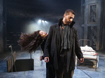 THE CRUCIBLE   by Arthur Miller   design: Soutra Gilmour   lighting: Tim Lutkin   director: Yael Farber ~Samantha Colley (Abigail Williams), Richard Armitage (John Proctor) ~Old Vic Theatre (OV), Lond...