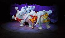 THE ELEPHANTOM   by Ross Collins   adapted by Ben Power   music: Adam Pleeth   design: Samuel Wyer   lighting: Matt Daw   consultant director: Marianne Elliott   directors: Finn Caldwell and Toby Olie...