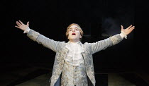 AMADEUS   by Peter Shaffer   design: Simon Higlett   lighting: Tim Mitchell   director: Jonathan Church   Joshua McGuire (as Wolfgang Amadeus Mozart)  Chichester Festival Theatre (CFT) / West Sussex...