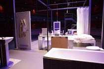 A STREETCAR NAMED DESIRE   by Tennessee Williams   set design: Magda Willi   costumes: Victoria Behr   lighting: Jon Clark   director: Benedict Andrews ~stage,set,empty,interior,toilet,bath,bathroom,b...