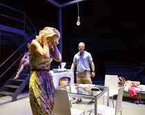 A STREETCAR NAMED DESIRE   by Tennessee Williams   set design: Magda Willi   costumes: Victoria Behr   lighting: Jon Clark   director: Benedict Andrews ~Gillian Anderson (Blanche DuBois), Ben Foster (...