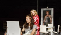 A STREETCAR NAMED DESIRE   by Tennessee Williams   set design: Magda Willi   costumes: Victoria Behr   lighting: Jon Clark   director: Benedict Andrews ~l-r: Vanessa Kirby (Stella Kowalski), Gillian A...