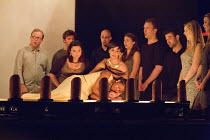 DIDO AND AENEAS   by Purcell   conductor/harpsichord: Robert Howarth   design: Rod Maclachan   co-directors: John Retallack & Tom Morris   Dido dies - front centre, l-r: Lisa Wilson (Second Woman), C...