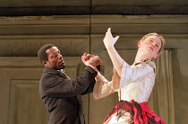 A DOLL'S HOUSE   by Ibsen   design: Angela Davies   lighting: Tina MacHugh   director: Polly Teale ~Paterson Joseph (Torvald Helmer), Anne-Marie Duff (Nora)~Shared Experience / New Ambassadors, London...