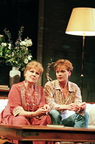 AMY'S VIEW   by David Hare   design: Bob Crowley   lighting: Mark Henderson   director: Richard Eyre ~l-r: Judi Dench (Esme), Samantha Bond (Amy) ~Lyttelton Theatre / National Theatre (NT), London SE1...