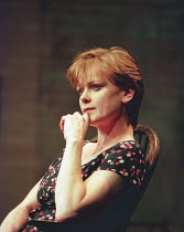 AMY'S VIEW   by David Hare   design: Bob Crowley   lighting: Mark Henderson   director: Richard Eyre ~Samantha Bond (Amy) ~Lyttelton Theatre / National Theatre (NT), London SE1   20/06/1997   transfer...