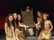 PITCAIRN   by Richard Bean   design: Tim Shortall   lighting: Johanna Town   director: Max Stafford-Clark ~Tahitian girls~co-production with Out of Joint & Shakespeare's Globe / Minerva Theatre / Chic...