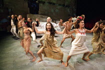 PITCAIRN   by Richard Bean   design: Tim Shortall   lighting: Johanna Town   director: Max Stafford-Clark ~Arioi dance~co-production with Out of Joint & Shakespeare's Globe / Minerva Theatre / Chiches...