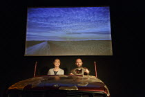 AUTOBAHN   by Neil LaBute   design: Neil Gordon   lighting: Paul O'Shaughnessy   director: Tim Sullivan ~AUTOBAHN: Sharon Maughan (Woman), Henry Everett (Man)~King's Head Theatre, London N1   29/08/20...
