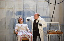 REGENERATION   adapted for the stage by Nicholas Wright   from the novel by Pat Barker   design: Alex Eales   lighting: Lee Curran   director: Simon Godwin ~electric shock treatment for mutism - l-r:...
