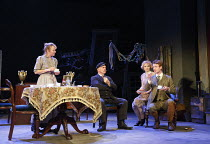 JUNO AND THE PAYCOCK   by Sean  O'Casey   design: Peter Coyte   lighting: Fergus O'Hare   director: Gemma Bodinetz ~l-r: Niamh Cusack (Juno Boyle), Des McAleer (Captain Jack Boyle), Maureen O'Connell...