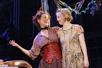 JUNO AND THE PAYCOCK   by Sean  O'Casey   design: Peter Coyte   lighting: Fergus O'Hare   director: Gemma Bodinetz ~l-r: Aoife McMahon (Mrs Maisie Madigan), Maureen O'Connell (Mary Boyle)~co-productio...