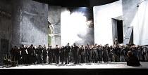 OTELLO   by Verdi   after Shakespeare   conductor: Edward Gardner   design: Jon Morrell   lighting: Adam Silverman   director: David Alden ~opening storm scene, crowd chorus~English National Opera (EN...