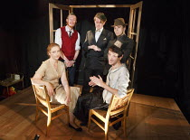 FRED AND MADGE   by Joe Orton   design: Christopher Hone   lighting: Seth Rook Williams   director: Mary Franklin ~left: Jodyanne Richardson (Madge), Jake Curran (Fred) ~Hope Theatre, Hope & Anchor pu...