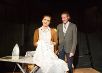 FRED AND MADGE   by Joe Orton   design: Christopher Hone   lighting: Seth Rook Williams   director: Mary Franklin ~Jodyanne Richardson (Madge), Jake Curran (Fred) ~Hope Theatre, Hope & Anchor pub, Lon...