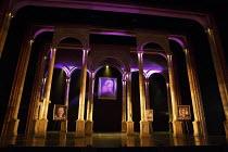 EVITA   music: Andrew Lloyd Webber   lyrics: Tim Rice   design: Matthew Wright   lighting: Mark Howett   choreographer: Bill Deamer   directors: Bob Thomson & Bill Kenwright   stage,set,empty,arch,p...