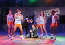 TEH INTERNET IS A SERIOUS BUSINESS   by Tim Price   design: Chloe Lamford   lighting: James Farncombe   director: Hamish Pirie   with microphone: Ferdinand Kingsley (Anonymous)   Natalie Dew (Anxiety...