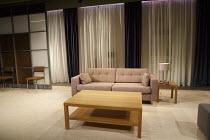 NEXT FALL   by Geoffrey Nauffts   design: David Woodhead   lighting: Howard Hudson   director: Luke Sheppard   stage,set,full,empty,modern,contemporary,curtains,furniture,room,interior  Southwark Pl...