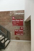 interior,signs,brick,wall   Park Theatre, Finsbury Park, London N4   05/2013